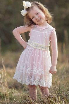 Fit for a princess | Pink Lace Overlay Dress | FREE Shipping on all orders! #themainstreetshoppe #childrensfashion