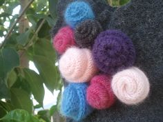 Upcycled Wool Toddler Purse ~ Cashmere, Angora & Lambswool Rosettes
