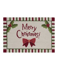 Take a look at this Holly & Bow 'Merry Christmas!' Doormat on zulily today!