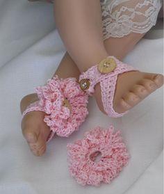 Bahama Baby Barefoot Sandal. $12.00, via Etsy.