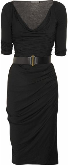Cowl-neck Stretch-jersey Dress - Lyst