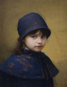 """""""Skylar in Blue"""" by Jeremy Lipking."""