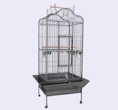 Pawhut Large Play Top Bird Dometop Cage w/ Stand and Wheels - Black Vein Pawhut,http://www.amazon.com/dp/B007TV9IXS/ref=cm_sw_r_pi_dp_agqIsb18JPG7Y0H7