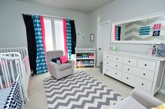 Grey and white chevron nursery