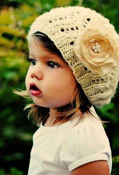 Cute flower sock hat