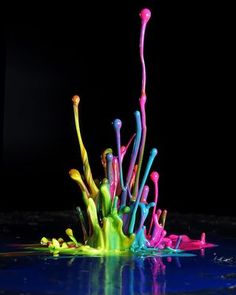 Liquid Splatter formed by speaker vibrations; I already do this, but I'm adding color this year.