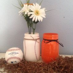 A personal favorite from my Etsy shop https://www.etsy.com/listing/271303750/hand-painted-orange-and-black-baseball