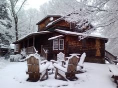 The Fugger Cabin in a coat of white! February 2014, Barnsley Resort, Georgia