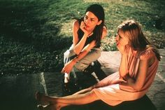 Sofia Coppola and Kirsten Dunst on the set of The Virgin Suicides