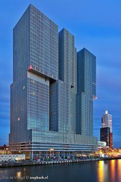 """""""De Rotterdam"""" by Rem Koolhaas (foto: Rob de Voogd)."""