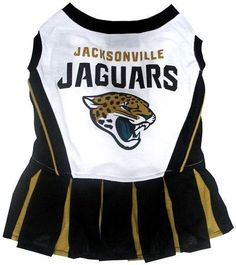 6c2e3f1cc Jacksonville Jaguars Cheerleader Dog Dress - Pets First Get your pet ready  to cheer for the team with an officially licensed NFL pet cheerleader  outfit ...