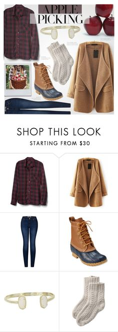 """""""Apple Picking- Preppy"""" by littledesigns ❤ liked on Polyvore featuring WithChic, 2LUV, L.L.Bean, Kendra Scott, Toast, Fall and fashionset"""