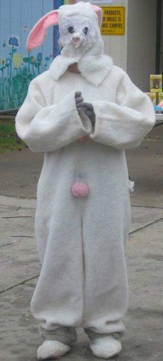 37 Creepy Easter Bunny Pics That'll Make Ya Fill Your Basket -