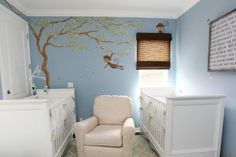 twin nursery...for a small room...for Pea