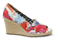 Flower TOMS Wedges