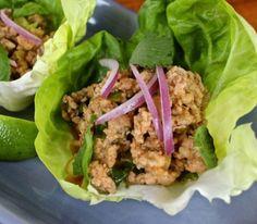 Turkey Larb Lettuce Cups | The Kitchen Scout