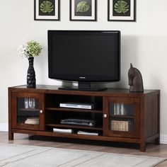 Terra Tobacco Finish 2-door Entertainment Center - Overstock Shopping - Great Deals on Entertainment Centers