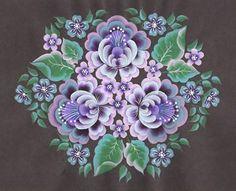 Выполнение декоративных элементов по мотивам Тагильской росписи | Авторская платформа Pandia.ru