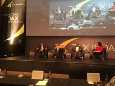"""At Tax Indaba 2017 - panel discussion on """"The Psychology of Tax Behaviour in Times of Recession (Panel Discussion)"""" Speakers from left to right: Dr Beric John Croome (ENSafrica), Dr Randall Carolissen (SARS), Judge Bernard Ngoepe (TaxOmbud SA)  and Patricia Williams (Bowmans)(Photograph courtesy of Thyann Delport of https://www.payspace.com/)"""