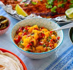 Cole Slaw, Jerk Chicken, Chana Masala, Vegetarian Recipes, Chili, Tacos, Curry, Menu, Mexican