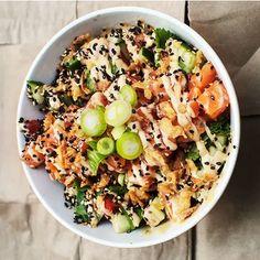 Greek Quinoa Salad, Mediterranean Quinoa Salad, Quinoa Salad Recipes, Quinoa Bowl, Poke Bowl, Clean Recipes, Fish Recipes, Healthy Recipes, Fresco