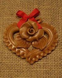 vizovické pečivo - srdce Marzipan, Salt Dough Crafts, Cute Crafts, Clay, Homemade, Pane, Chocolate, Christmas Ornaments, Hampers