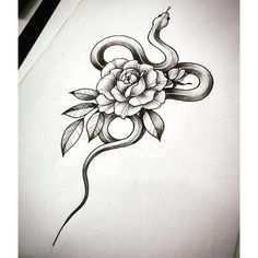 30 Amazing Small Snake Tattoo Design Ideas ❤ liked on Polyvore featuring accessories and body art #FlowerTattooDesigns #smalltattoos #tattooideas