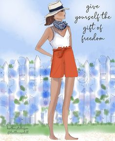 Positive Quotes For Women, Happy Fourth Of July, Cute Cartoon Girl, Sassy Pants, 4th Of July Outfits, Good Morning Messages, Cute Illustration, Make Time, Types Of Fashion Styles