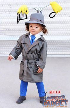This Inspector Gadget costume is adorable.