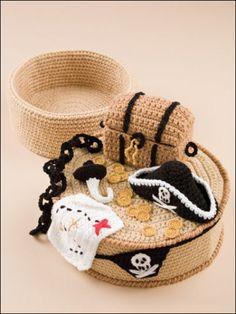 Treasure Cakes Crochet Food Box