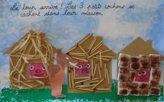 Ideas for artistic achievements around the 3 little pigs - Ideas for artistic achievements around the 3 little pigs - 3 Little Pigs Activities, Fairy Tale Activities, Activities For Kids, Pig Crafts, Book Crafts, Preschool Crafts, Art For Kids, Crafts For Kids, Arts And Crafts