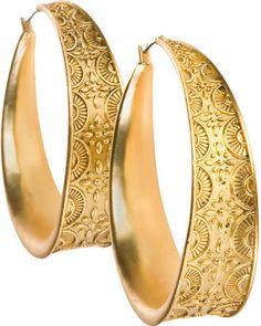 ShopStyle: Gold Hoop Earrings by O Oscar by Oscar de la Renta