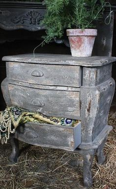 Gray Side Table $110.00 at Pink Pig
