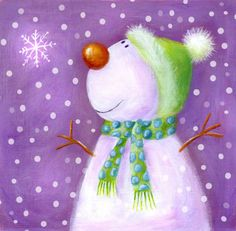 Ileana Oakley -  snowman and snowflake.jpg