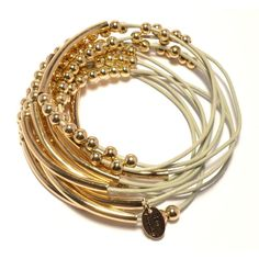 Jewellery & Gifts from Dogeared, Daisy London and more! Stacking Bracelets, Bangles, Daisy London, Lola Rose, Grey Leather, Bracelet Set, Bling Bling, Jewelry Gifts, Arm