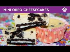 ▶ FOODGLOSS - Mini oreo cheesecakes + traktatie tip - YouTube