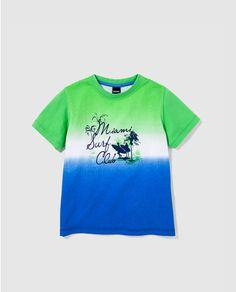 Camiseta de niño Freestyle tricolor con print