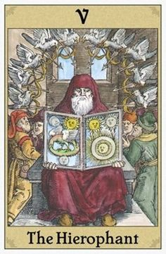 The Hierophant Tarot card.