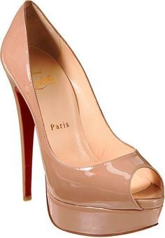 Lady Peep Platform Pumps-Nude. I simply love these.