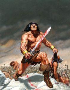 bob larkin - savage sword of conan, 1979 Fantasy Fiction, Fantasy Movies, High Fantasy, Sci Fi Fantasy, Fantasy Characters, Marvel Comics, Conan Comics, Red Sonja, Conan The Conqueror