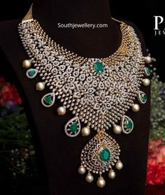 Indian Jewellery Designs - Page 3 of 1696 - Latest Indian Jewellery Designs 2020 ~ 22 Carat Gold Jewellery one gram gold Bridal Necklace Set, Bridal Jewelry, Gold Jewelry, Floral Necklace, Diamond Jewelry, Tikka Jewelry, Bold Necklace, Ear Jewelry, Temple Jewellery