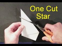 How to make perfect star with 1 8x10 paper and scissors! Genius! I am going to do stars all over my paper lantern