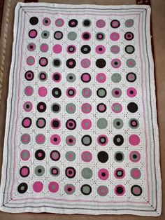 crochet circles in squares   How to crochet circle square granny square blanket   Crochet
