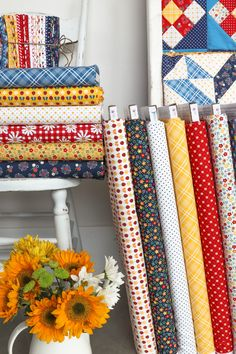 Introducing my debut fabric collection, Gingham Girls for Penny Rose/Riley Blake Designs. Plus, four new corresponding quilt patterns!