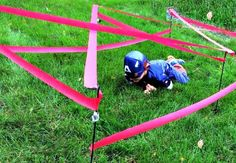 super cool and easy obstacle course as a party game