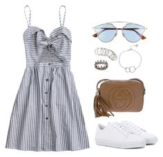 """""""Sin título #986"""" by elipenaserrano ❤ liked on Polyvore featuring A.P.C., Gucci, Christian Dior, Chupi, H&M and Loree Rodkin"""