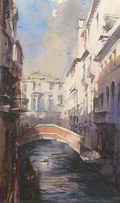 Cityscapes watercolor - Vladislav Yeliseyev