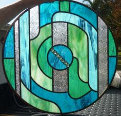 Stained Glass medallion for front of house from Ambient Glass