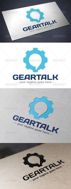Gear Talk Logo #GraphicRiver - Three color version: color, greyscale and single color. - The logo is 100% resizable. - You can change text and colors very easy using the named and organized layers that includes the file. - The typography used is Days you can download here: .fontsquirrel /fonts/Days Created: 27September13 GraphicsFilesIncluded: VectorEPS #AIIllustrator Layered: Yes MinimumAdobeCSVersion: CS Resolution: Resizable Tags: brand #business #car #computer #corporate #creative #eyes…