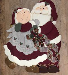 Navidad Santa, Quilts, Christmas Ornaments, Holiday Decor, Crafts, Home Decor, Felt Christmas Ornaments, Ideas For Christmas, Papa Noel